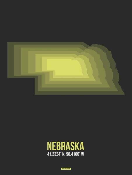 Wall Art - Digital Art - Map Of Nebraska 2 by Naxart Studio