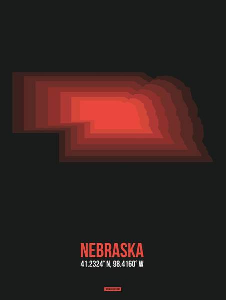 Wall Art - Digital Art - Map Of Nebraska 3 by Naxart Studio