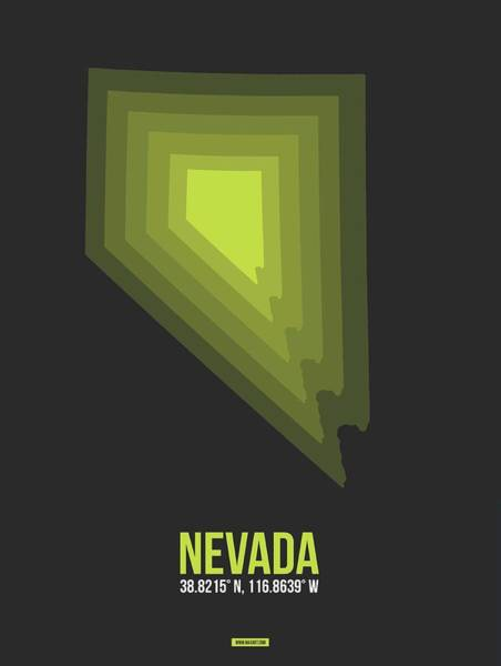 Wall Art - Digital Art - Map Of Nevada by Naxart Studio