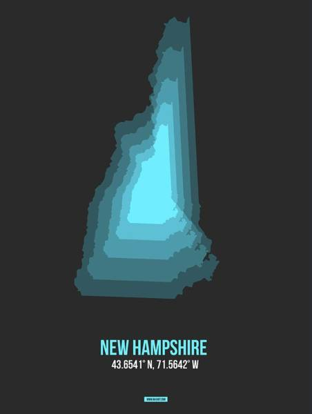 Wall Art - Digital Art - Map Of New Hampshire by Naxart Studio