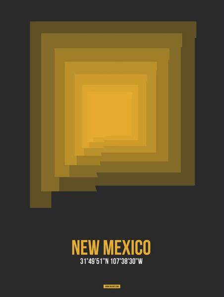 Wall Art - Digital Art - Map Of New Mexico 1 by Naxart Studio