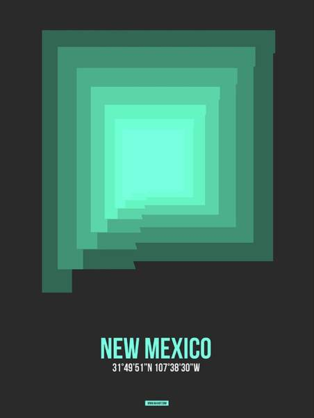 Wall Art - Digital Art - Map Of New Mexico 3 by Naxart Studio