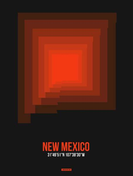 Wall Art - Digital Art - Map Of New Mexico 4 by Naxart Studio