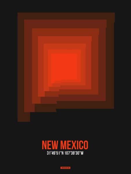 Wall Art - Digital Art - Map Of New Mexico 4 by Naxart Studio