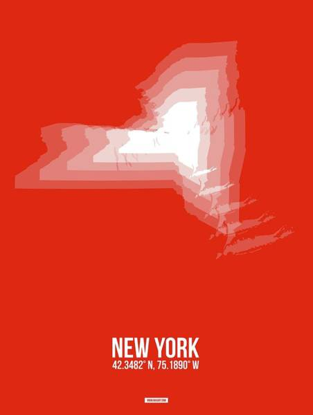 Wall Art - Digital Art - Map Of New York 2 by Naxart Studio