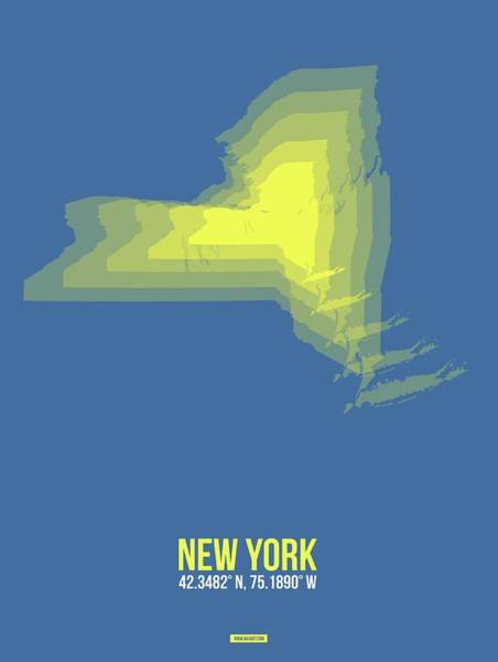Wall Art - Digital Art - Map Of New York by Naxart Studio
