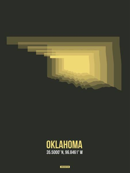 Wall Art - Digital Art - Map Of Oklahoma by Naxart Studio