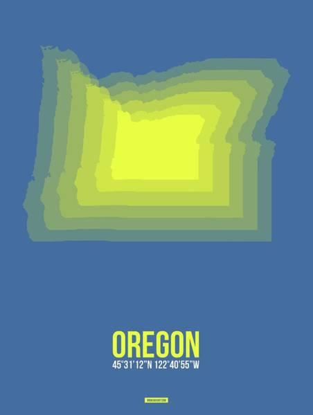 Wall Art - Digital Art - Map Of Oregon by Naxart Studio