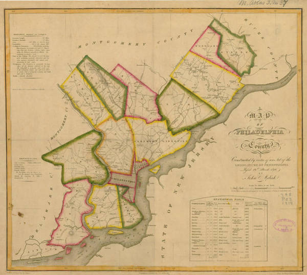 Outdoors Digital Art - Map Of Philadelphia 1819 And by Historic Map Works Llc