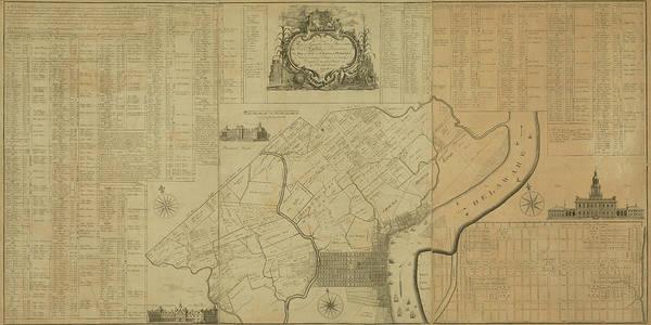 Digital Art - Map Of Philadelphia, Pennsylvania 1774 by Historic Map Works Llc