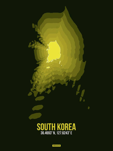 Wall Art - Digital Art - Map Of South Korea 2 by Naxart Studio