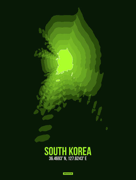 Wall Art - Digital Art - Map Of South Korea 3 by Naxart Studio