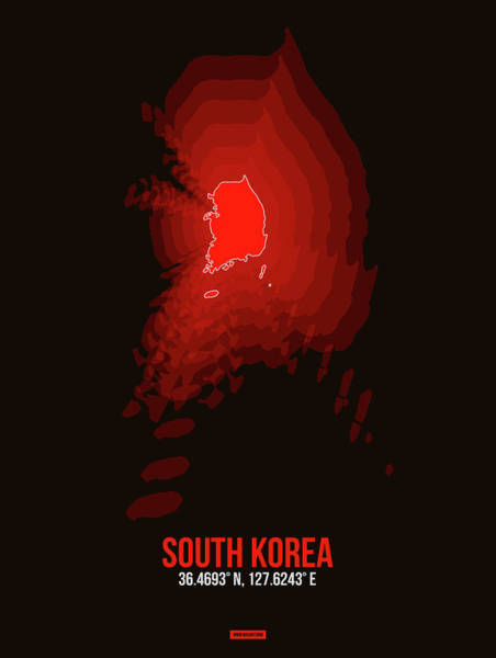 Wall Art - Digital Art - Map Of South Korea by Naxart Studio