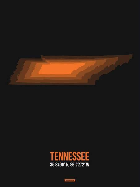 Wall Art - Digital Art - Map Of Tennessee 2 by Naxart Studio