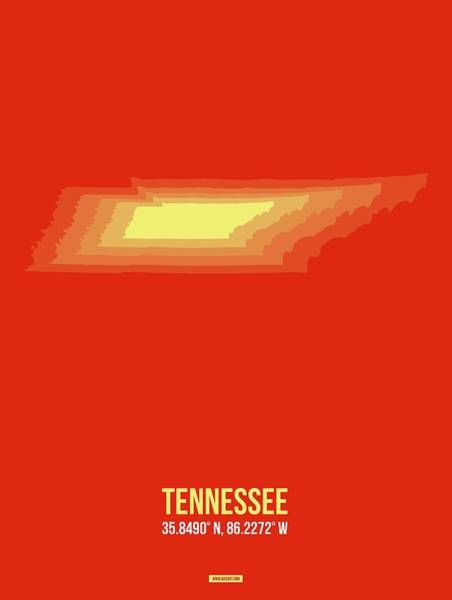 Wall Art - Digital Art - Map Of Tennessee 4 by Naxart Studio