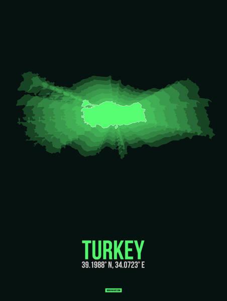 Eames Wall Art - Digital Art - Map Of Turkey 2 by Naxart Studio