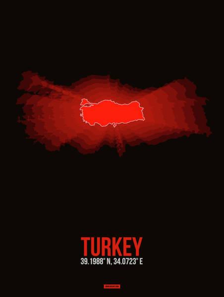 Wall Art - Digital Art - Map Of Turkey by Naxart Studio