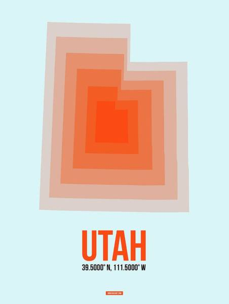 Map Of Utah 2 Art Print