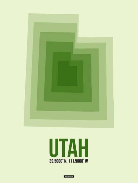 Map Of Utah 3 Art Print