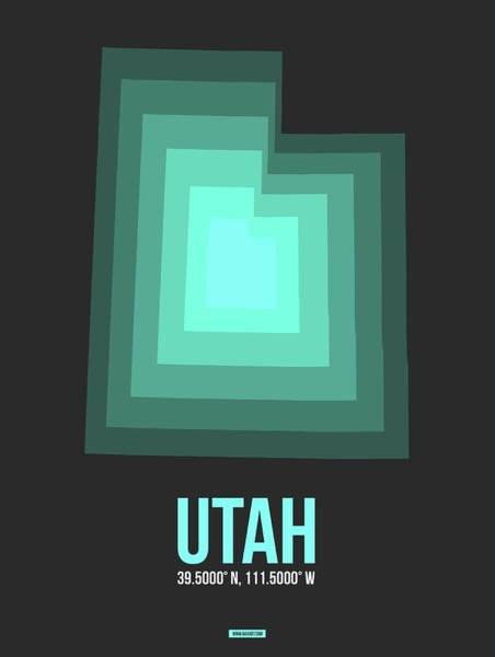 Map Of Utah 4 Art Print