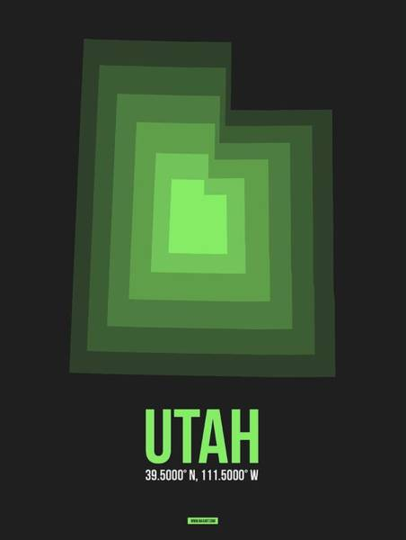 Map Of Utah 5 Art Print