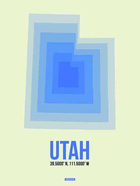Map Of Utah Art Print