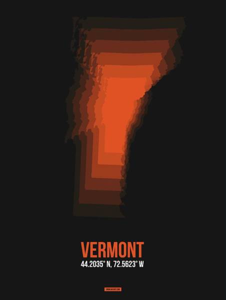 Wall Art - Digital Art - Map Of Vermont 2 by Naxart Studio