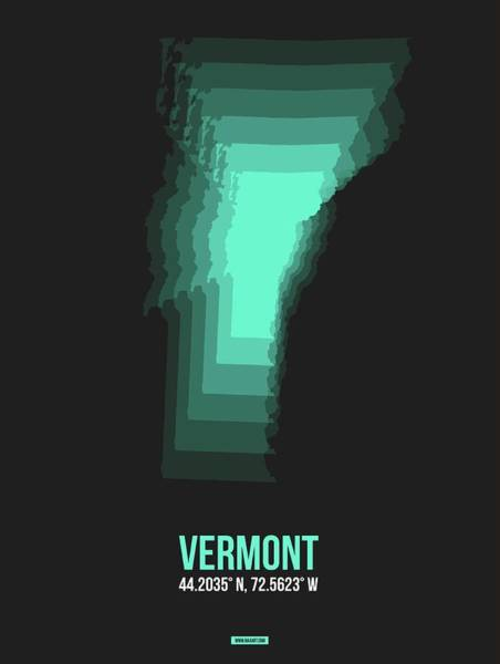 Wall Art - Digital Art - Map Of Vermont 3 by Naxart Studio