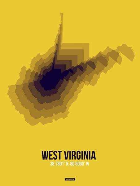 Wall Art - Digital Art - Map Of West Virginia by Naxart Studio