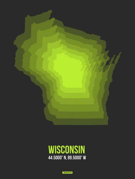 Wisconsin Wall Art - Digital Art - Map Of Wisconsin 2 by Naxart Studio