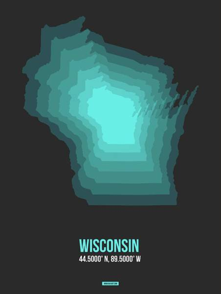 Wisconsin Wall Art - Digital Art - Map Of Wisconsin 3 by Naxart Studio