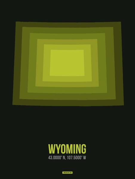 Wall Art - Digital Art - Map Of Wyoming 2 by Naxart Studio