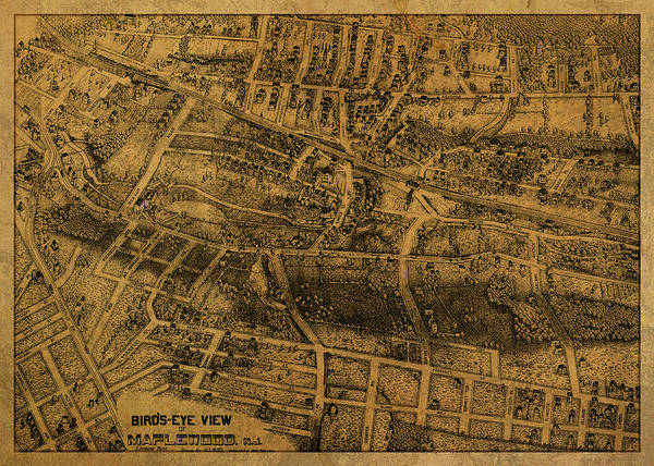 Wall Art - Mixed Media - Maplewood New Jersey Vintage City Street Map 1911 by Design Turnpike