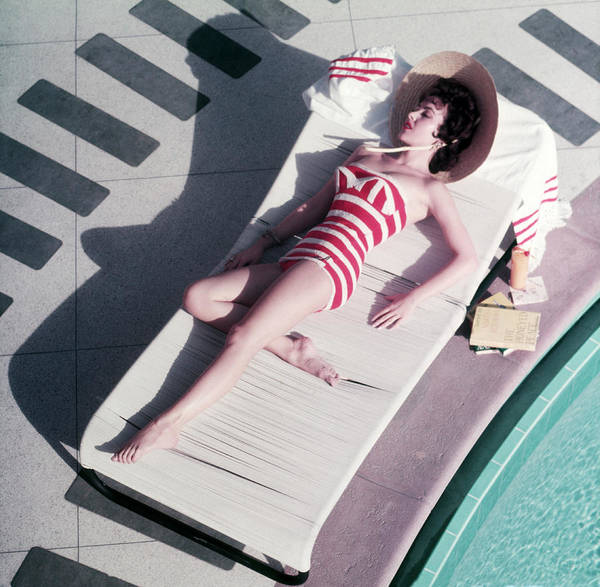 Hat Photograph - Mara Lane At The Sands by Slim Aarons