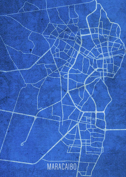 Wall Art - Mixed Media - Maracaibo Venezuela City Street Map Blueprints by Design Turnpike