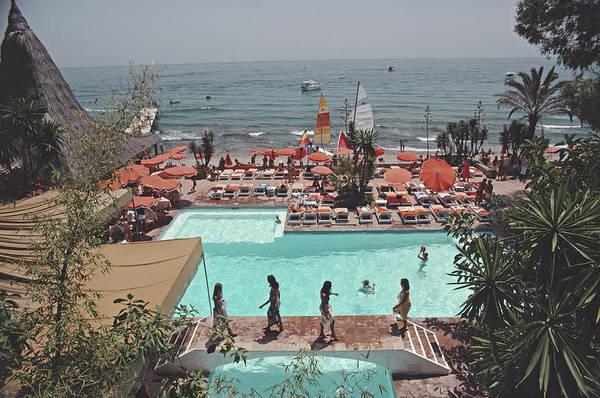 Photograph - Marbella Club by Slim Aarons