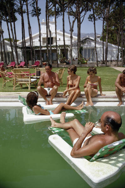 Marbella Photograph - Marbella Party by Slim Aarons