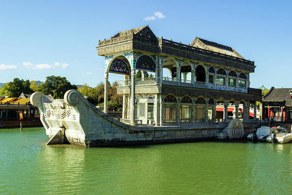 Photograph - Marble Boat, China by Aashish Vaidya