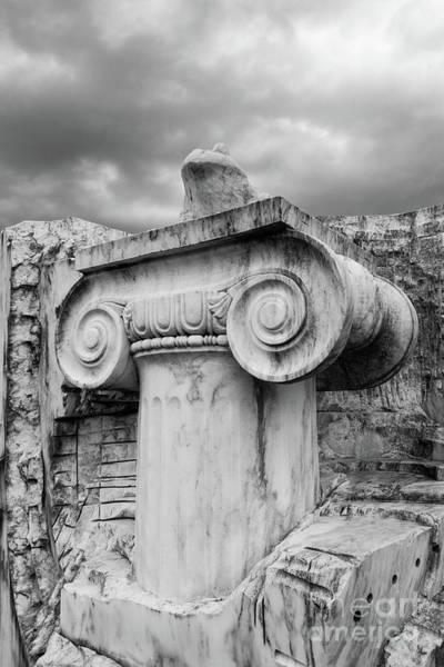 Wall Art - Photograph - Marble Column Sculpture by Edward Fielding