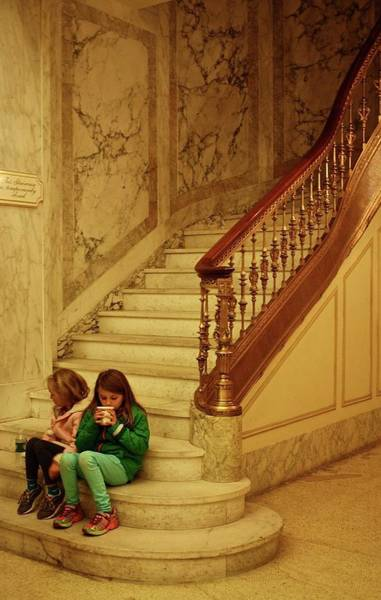 Wall Art - Photograph - Marble Staircase And Hot Chocolate by Madelynne Reilly