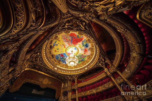 Palais Photograph - Marc Chagall Ceiling Of Paris Palais Garnier Opera House by Mike Reid