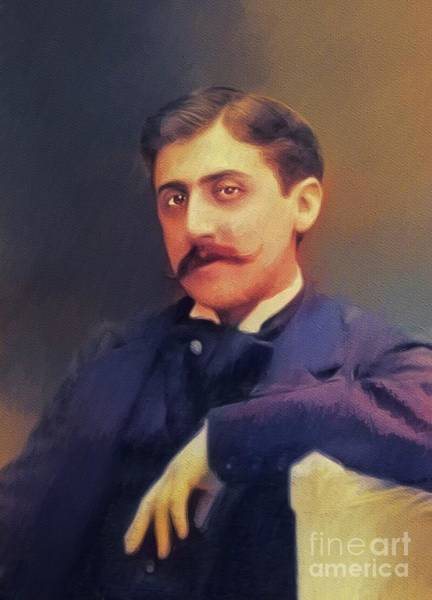 Wall Art - Painting - Marcel Proust, Literary Legend by John Springfield