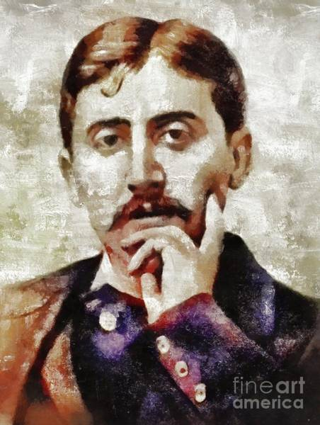 Wall Art - Painting - Marcel Proust, Literary Legend by Mary Bassett