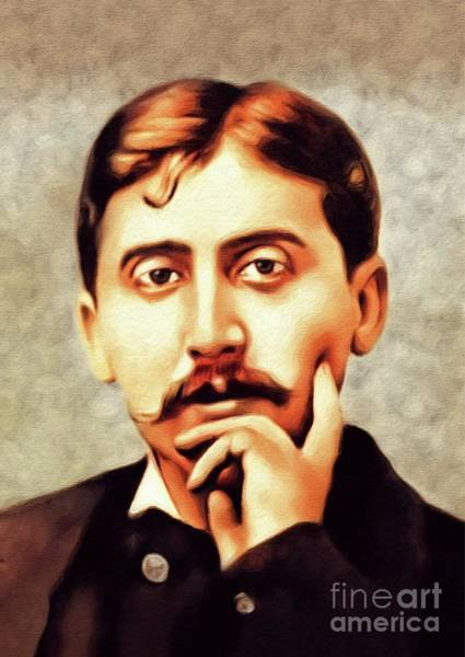 Wall Art - Painting - Marcel Proust, Philosopher by John Springfield