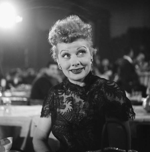 Photograph - March 7, 1955, Hollywood, Lucille Ball by Michael Ochs Archives