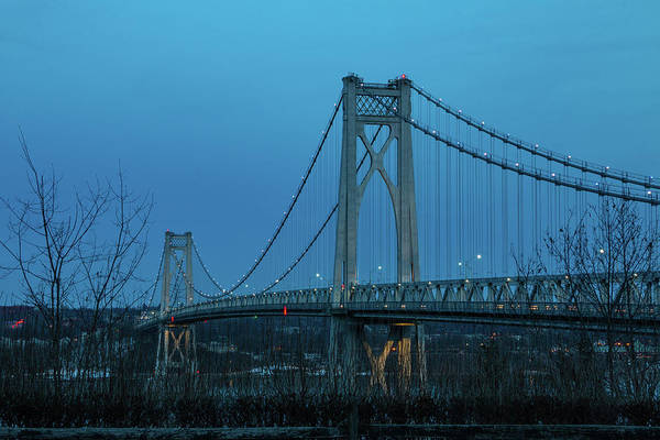 Photograph - March Evening At Mid-hudson Bridge 2019 by Jeff Severson