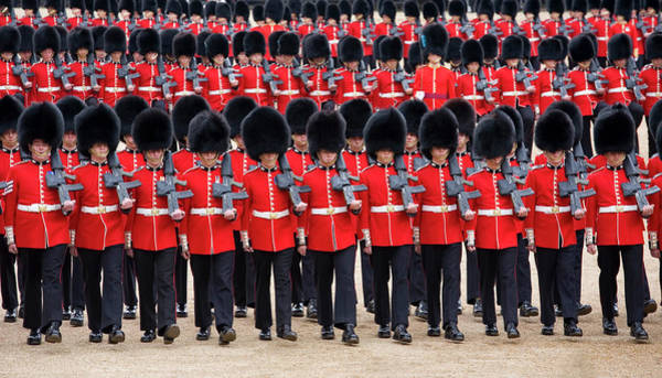 Honor Guard Photograph - March-past, Trooping The Colour by David C Tomlinson
