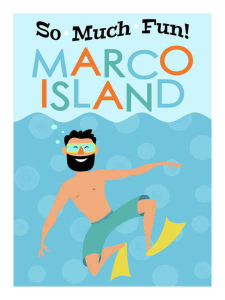 Wall Art - Digital Art - Marco Island Fun Hipster Travel by Flo Karp