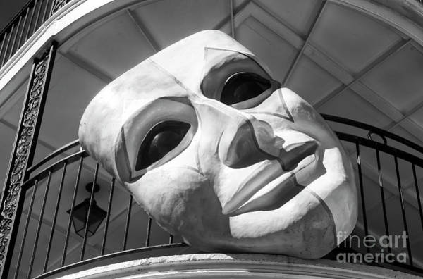 Photograph - Mardi Gras Balcony Mask New Orleans Infrared by John Rizzuto