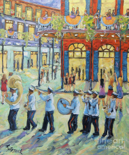 Wall Art - Painting - Mardi Gras In New Orleans by Richard T Pranke